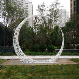 不锈钢圆形雕塑景观雕塑现代雕塑圆环