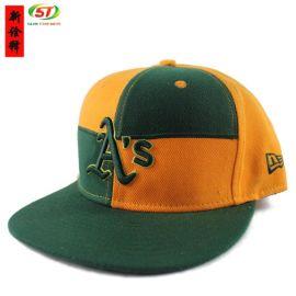 ISO工厂定做3d字母立体刺绣平沿棒球帽 韩版时尚男女街头嘻哈帽定制