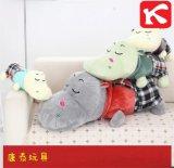 揚州毛絨玩具廠家批發定製銷售抱枕新款毛絨玩具公仔玩偶格子布河馬一件代發廠家直銷一手貨源