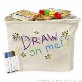 純棉兒童手繪環保收納袋
