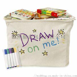 纯棉儿童手绘环保收纳袋