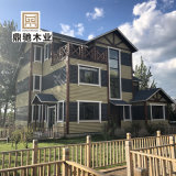 度假區輕型木結構別墅辦公房活動房湖邊木屋