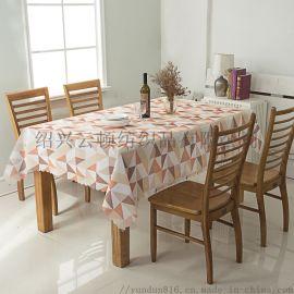 绍兴云顿纺织--涤纶印花桌布  精美几何图案