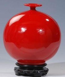 红瓷花瓶(7036)