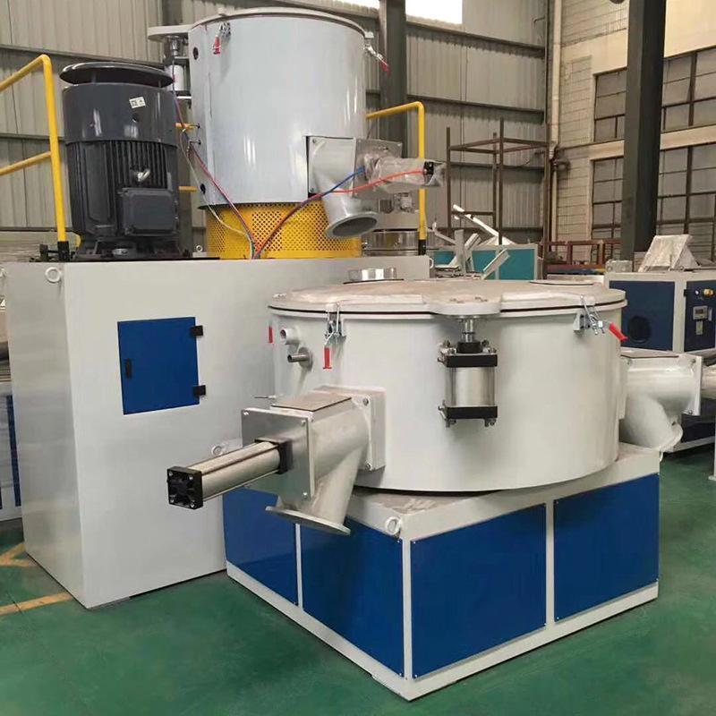 供应钙粉高速混合机树脂粉快速混合搅拌机PVC粉料高速搅拌机组