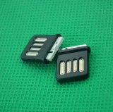 現貨USB2.0連接器大電流雙面全塑超短體正反插焊線式金手指連接器