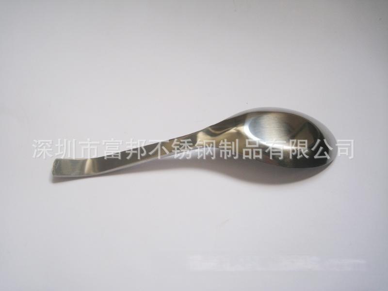 不鏽鋼彎尾平底勺,不鏽鋼平底勺可定製企業LOGO