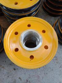 夹轮不带轴承滑轮组 抓斗上下定滑轮片 单轮吊环滑轮