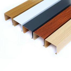 型材铝方通吊顶天花厂家定制木纹铝合金四方管规格
