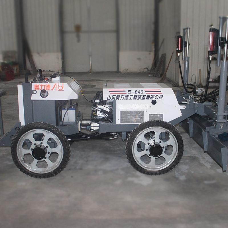 小型鐳射整平機四輪 全自動混凝土攤鋪機 鐳射攤鋪機