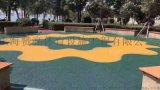 公園彩色步道人行道 無毒塑膠跑道材料每平米價格