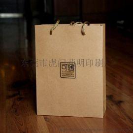 厂家直销黄牛皮纸袋 鞋盒购物袋 服装手提袋 印刷 现货批发 混批