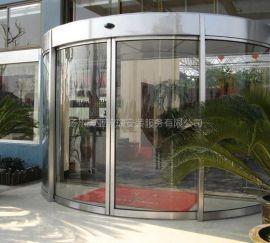 钢化玻璃自动旋转门