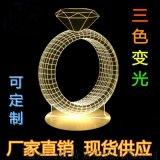 3D视觉立体灯 led个性奇特创意装饰 小台灯 小夜灯