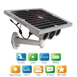 HW0029-5 WIFI ONVIF协议无线微光级夜视防水野外太阳能网络摄像机