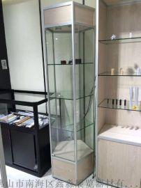 黑色精品展示柜专用柜台 折叠活动高柜矮柜铝合金制加工生产厂家 展会标摊珠宝柜台专用