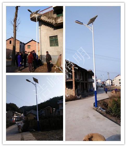 湖南坪上镇 高亮度太阳能LED6米30W路灯灯具质保三年