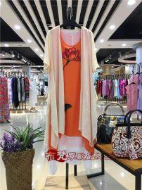 南宁剪标女装****促销格子行48元夏季连衣裙棉麻系列