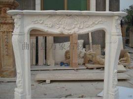 石雕欧式壁炉 西方人物雕刻 客厅装饰柜