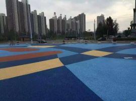 上海桓石艺术透水混凝土地坪彩色艺术混凝土路面透水地坪材料人行道工厂