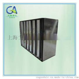 V型组合式活性炭过滤器外框材料 塑料框铝框不锈钢框