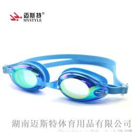 夏季新款电镀防水防雾游镜 成人硅胶泳镜 可定制近视眼镜AF-3300M