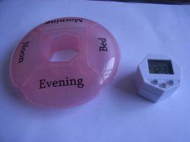 豪华型四格圆形电子药盒、一天电子药盒(TP7003)