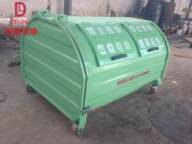 厂家直销 德隆重工 户外垃圾箱 臂式垃圾箱 寿命长