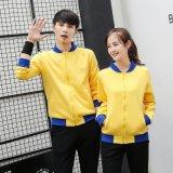 冬季韩国绒加厚保暖卫衣棒球服班服印字logo棒球衫学生校服外套