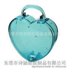 厂家供应 RDE6445心形塑料盒手提 美妆用品收纳盒 首饰收纳盒
