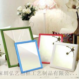 定制摆台挂墙小镜子多色可选 简欧创意塑料化妆摆镜 卫浴镜子批发