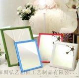 定制擺臺掛牆小鏡子多色可選 簡歐創意塑料化妝擺鏡 衛浴鏡子批發