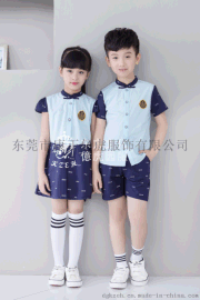 夏季新款幼儿园服特色简约纯色园服儿童礼服