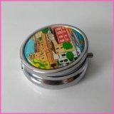厂家供应金属圆形药盒  便携随身药丸盒