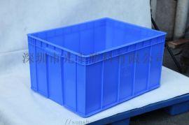 专用周转箱 斜插物流箱 带盖一体塑料箱带锁配送胶箱