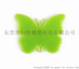 硅胶蝴蝶清洁刷 多用途厨房清洁工具 食品级洗碗刷