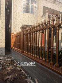 赣州庭院水泥艺术围栏和仿木栏杆施工效果图