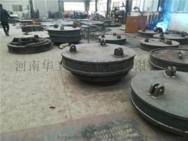跑車卷筒供電強磁吸盤φ120圓形電磁鐵廠家吸盤規格