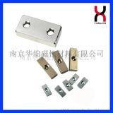 南京华锦供应单双沉孔方块磁片钕铁硼强磁铁