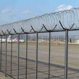 四川护栏网厂家机场护栏飞机场围栏网机场用刀刺滚笼