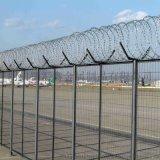 四川護欄網廠家機場護欄飛機場圍欄網機場用刀刺滾籠
