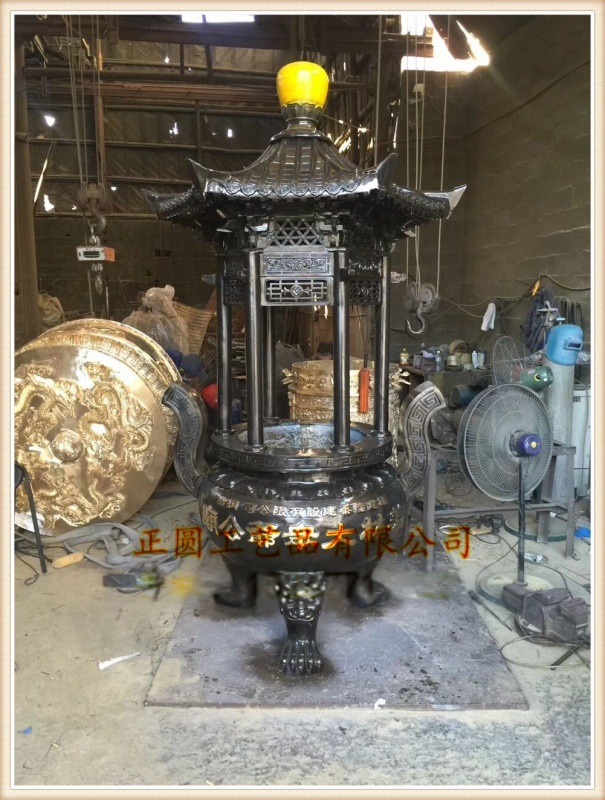 z9沈阳铸铁香炉厂家,辽宁大连铸铜圆形香炉铸造厂家