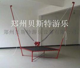 兒童鋼架蹦極貝斯特廠家質量耐用結實兒童蹦極跳牀