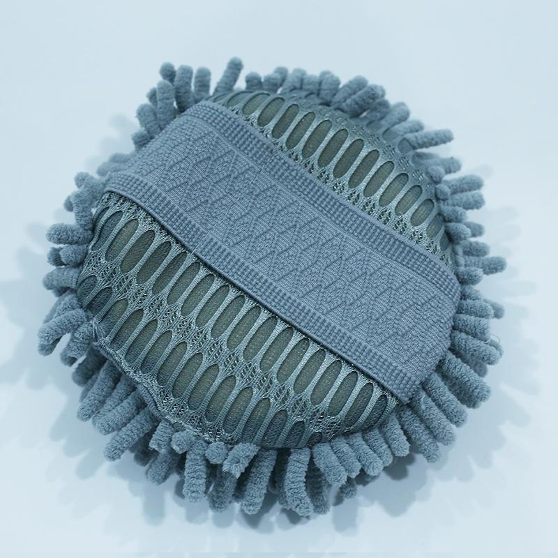 珊瑚虫吸水海绵块家务洗车专用雪尼尔海绵块玻璃金属擦拭清洁圆布