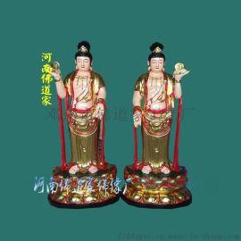 日月菩萨神像 月光菩萨佛像图片 佛道家日光菩萨