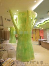 室内装饰柱子造型雕塑定制玻璃钢罗马柱雕塑