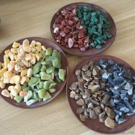 厂家直销机制天然洗米石 水磨石 人工板材彩石