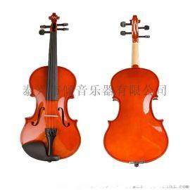优质椴木夹板练习小提琴 实木配件 初学者使用小提琴
