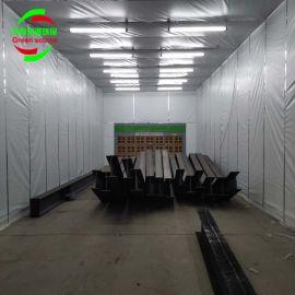 大型伸缩式喷漆房 环保伸缩喷漆房 定做伸缩房