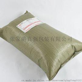 <真强包装>60*80灰绿物流编织袋。厂家直销